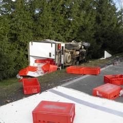 Zderzenie ciężarówki z sam. dostawczym