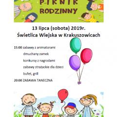 Piknik rodzinny w Krakuszowicach