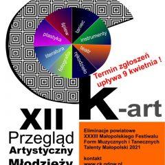 Zgłoszenia na Artystyczny Przegląd Młodzieży CK-Art do 9 kwietnia