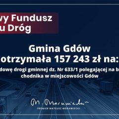 Gmina Gdów pozyskała dofinansowanie na budowę chodnika