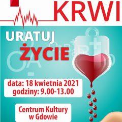 18 kwietnia w Gdowie odbędzie się zbiórka krwi