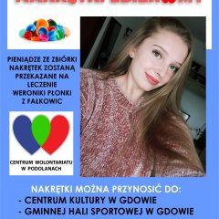Zbiórka nakrętek dla Weroniki Płonki z Fałkowic