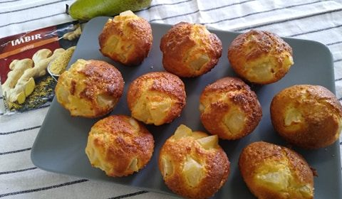 Kącik Kulinarny: muffiny z gruszkami i imbirem