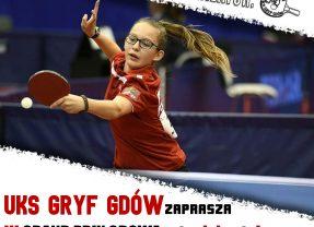 UKS Gryf Gdów zaprasza na III Grand Prix Gdowa w tenisie stołowym