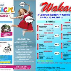 Wakacyjne propozycje dla dzieci i młodzieży