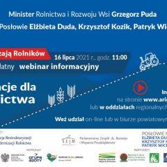15 i 16 lipca – ogólnopolski webinar – O pomocy dla rolników