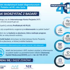 "1 lipca ruszył program ""Profilaktyka 40 PLUS"""