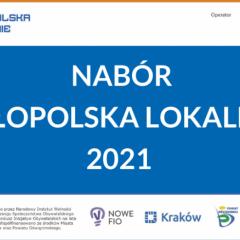 Małopolska lokalnie. Konkurs grantowy z dofinansowaniem do 6000 zł