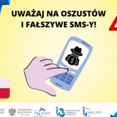 Ostrzeżenie przed fałszywymi SMS-ami
