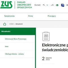 ZUS: elektroniczne potwierdzenia na PUE dla świadczeniobiorców
