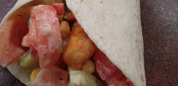 Kącik Kulinarny: tortilla z kurczakiem i warzywami